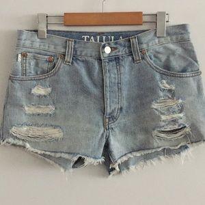 Talula - Aritzia distressed Jean Shorts